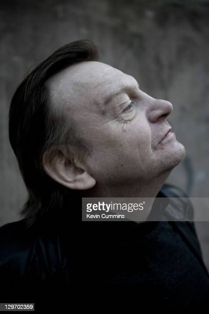 A portrait of Manchester musician Mark E Smith of The Fall Salford Manchester 18th March 2011