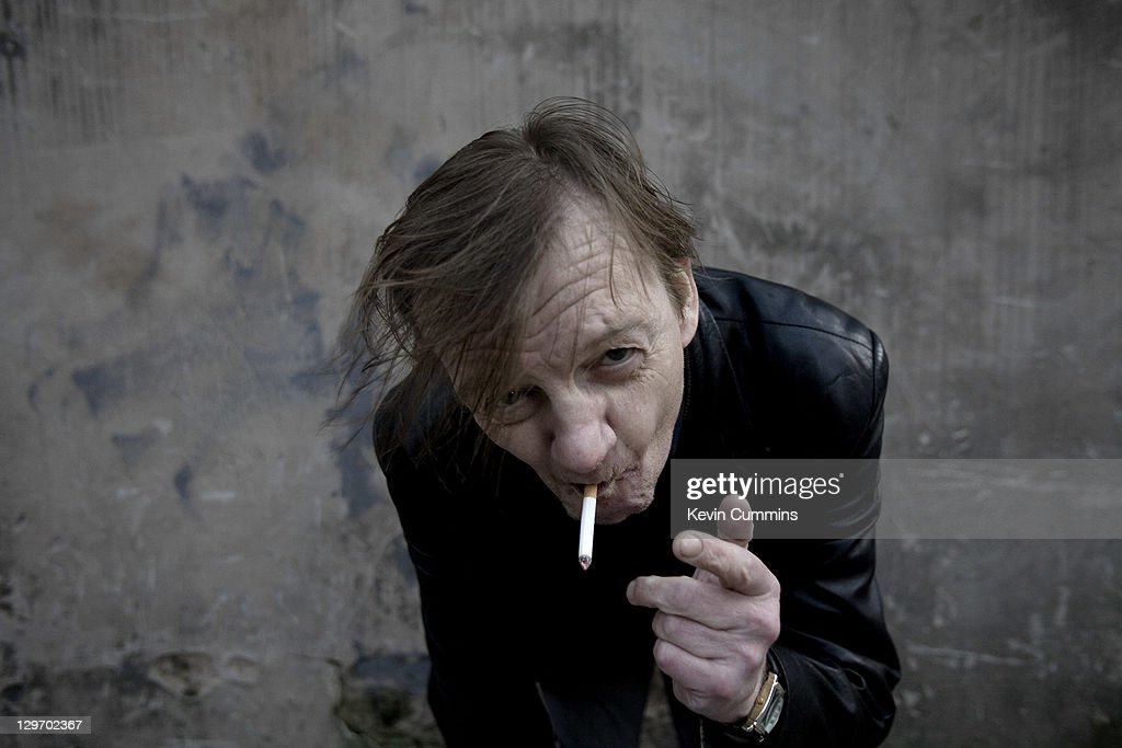A portrait of Manchester musician Mark E Smith of The Fall, Salford, Manchester, 18th March 2011.