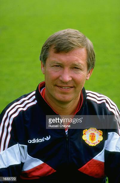 Portrait of Manchester United Manager Alex Ferguson during a photocall at Old Trafford in Manchester England Mandatory Credit Russell Cheyne/Allsport