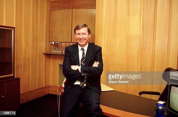 Portrait of Manchester United manager Alex Ferguson Mandatory Credit Shaun Botterill /Allsport