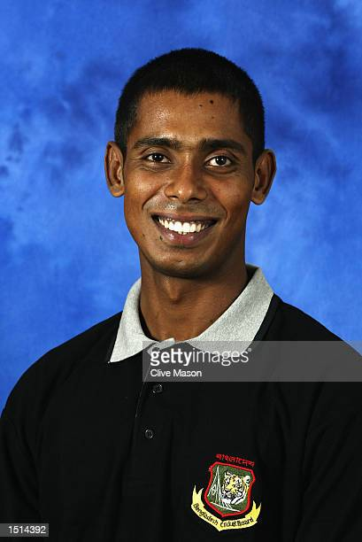 A portrait of Manjural Islam of Bangladesh taken before the ICC Champions Trophy in Colombo Sri Lanka on September 9 2002