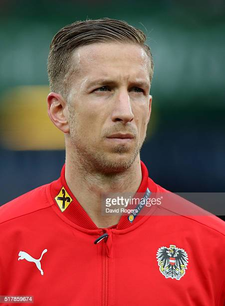 A portrait of Marc Janko of Austria during the international friendly match between Austria and Albania at the Ernst Happel Stadium on March 26 2016...