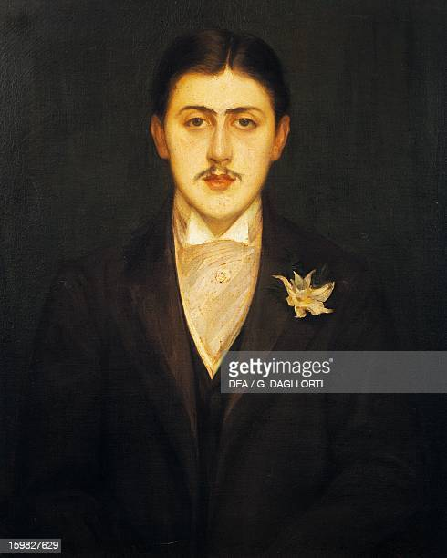 Portrait of Marcel Proust French writer Painting by Jacques Emile Blanche