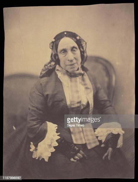 Portrait of Marceline DesbordesValmore Nadar [Gaspard Felix Tournachon] French 1820 1910 1854 Salted paper print Image 196 x 149 cm