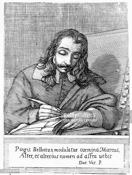 Portrait of Marco Boschini Italian writer painter and engraver Engraving 1600