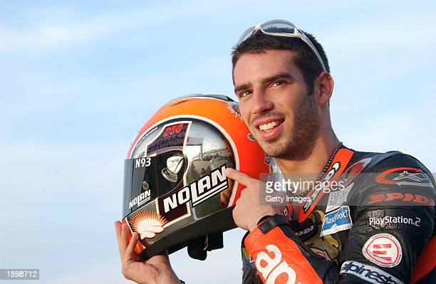 Portrait of Marco Melandri of Italy during the practice for the Spanish Grand Prix at the Ricardo Tormo Circuit, Valencia, Spain on November 1, 2002.