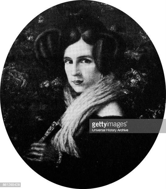 Portrait of Margherita Barezzi the first wife of Giuseppe Verdi an Italian opera composer Dated 19th Century