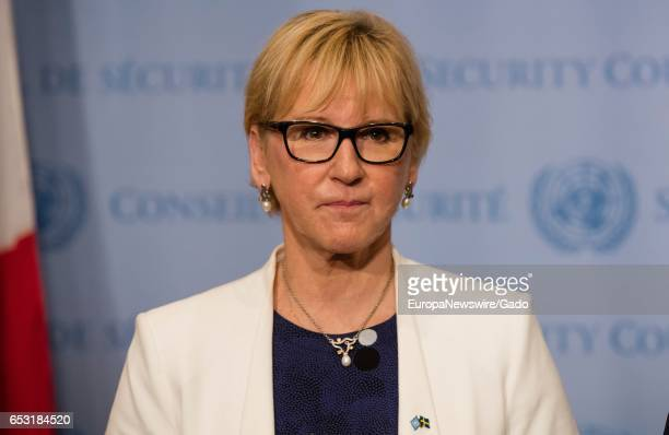 Portrait of Margot Wallstrom, Minister for Foreign Affairs of Sweden, June 28, 2016. .