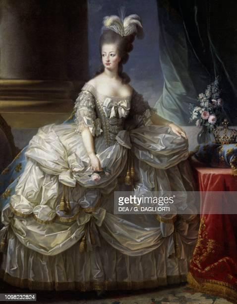 Portrait of Maria Antonia Josepha Johanna of Habsburg-Lorraine Queen of France, oil on canvas, 223x158 cm, already attributed to Alexandre Roslin.