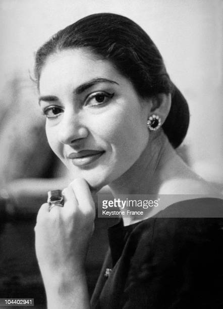 Portrait of Maria CALLAS in the 1960s.