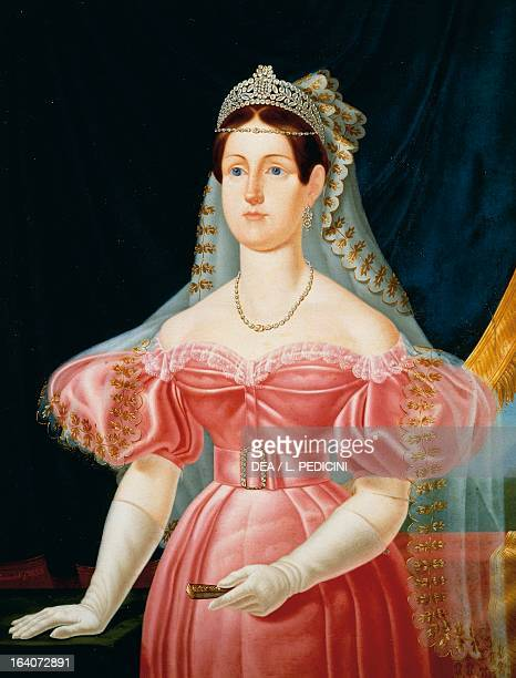 Portrait of Maria Cristina of Savoy Princess of Sardinia and Queen consort of Ferdinand II King of the Two Sicilies painting by Caracciolo oil on...