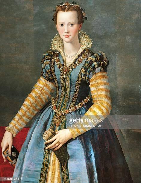 Portrait of Maria de Medici ca 1595 daughter of Francesco I de Medici Grand Duke of Tuscany and Joanna of Austria second wife of Henry IV of Bourbon...
