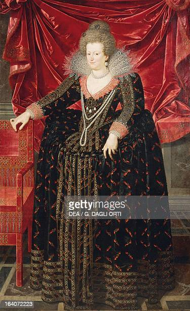 Portrait of Maria de Medici second wife of Henry IV of France King of France painting by Frans Pourbus the Younger Bilbao Museo De Bellas Artes De...