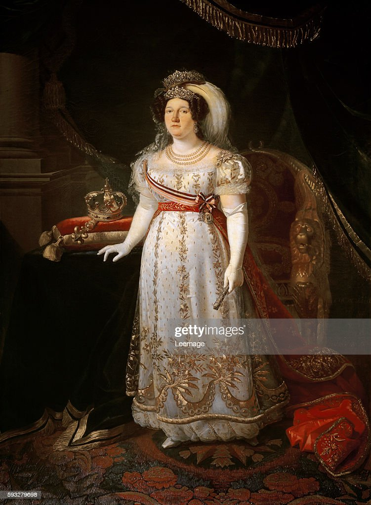 Portrait of Maria Isabella of Spain (1789-1848) Infanta of Spain and Queen & Portrait of queen Maria Isabella of Spain by Carlo di Falco Pictures ...