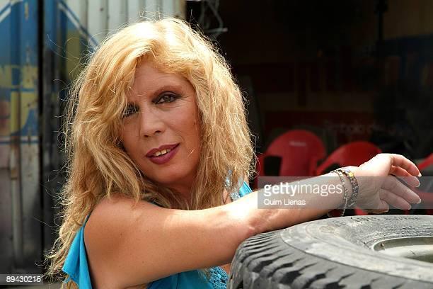 Portrait of Maria Jimenez singer and actress