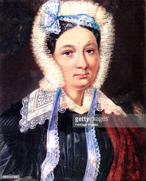 Portrait of Maria Kazimirovna Yushnevskaya wife of Decembrist Alexander Yushnevsky 18301839 Found in the collection of the Russian State Library...