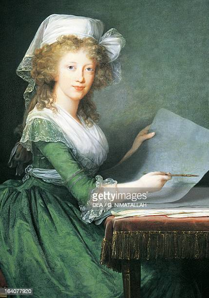 Portrait of Maria Luisa Amelie of Bourbon princess of Naples and Sicily later Grand Duchesse of Tuscany painting by Elisabeth Louise Vigee LeBrun...