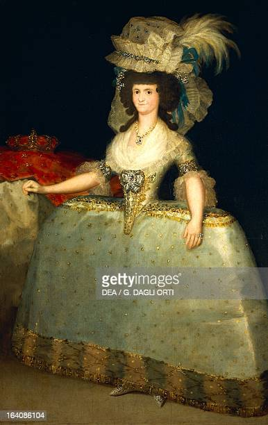 Portrait of Maria Luisa of Parma queen consort of Charles IV King of Spain painting by Francisco de Goya oil on canvas 205x132 cm Madrid Museo Del...