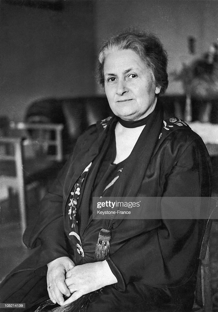 Maria Montessori 1931 : News Photo