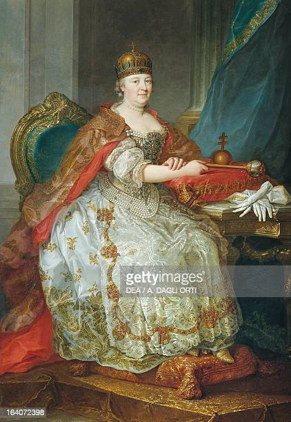 Portrait of Maria Theresa , Empress consort of Francis I , emperor of the Holy Roman Empire, Archduchess of Austria , Empress of the Holy Roman...