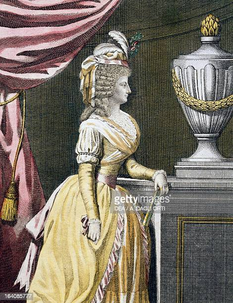 Portrait of Maria Theresa , Empress consort of Francis I , emperor of the Holy Roman Empire, engraving. Vienna, Historisches Museum Der Stadt Wien