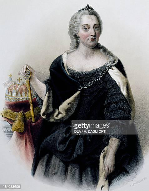 Portrait of Maria Theresa of Austria , Empress consort of Francis I , emperor of the Holy Roman Empire. Vienna, Historisches Museum Der Stadt Wien