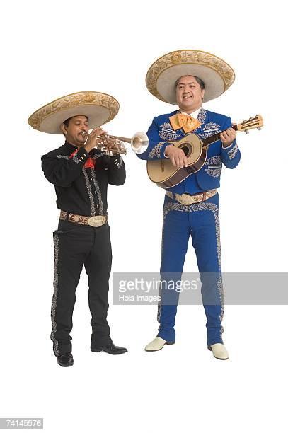 portrait of mariachi duo - mariachi fotografías e imágenes de stock