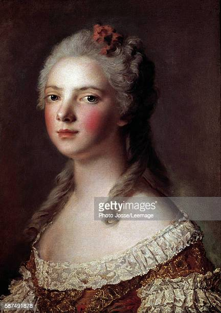 Portrait of Marie Adelaide of France known as Madame Adelaide daughter of Louis XV Painting by Jean Marc Nattier 1750 054 x 042 m Castle Museum...