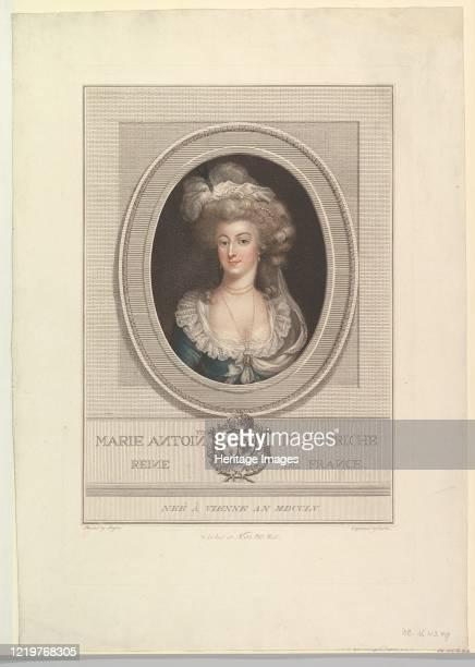 Portrait of Marie Antoinette, 1786-1800. Artist John Curtis.