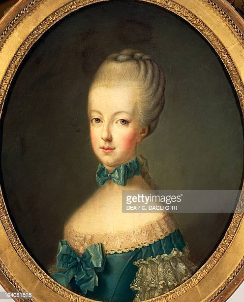 Portrait of Marie Antoinette , Archduchess of Austria and Queen consort of Louis XVI , King of France. Painting taken from Joseph Ducreux by...