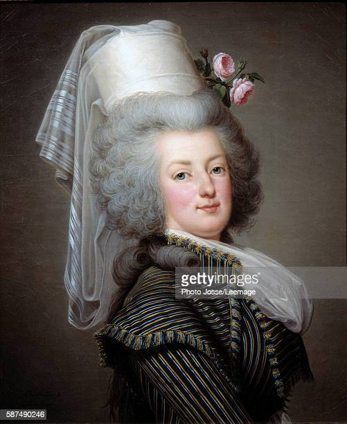 Portrait of Marie Antoinette Queen of France in hunting costume Painting by the Swedish painter Adolf Wertmuller 1788 Oil on canvas 065 x 053 m...