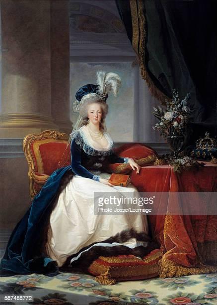 Portrait of Marie Antoinette Queen of France Painting by Marie Elisabeth Vigee Lebrun oil on canvas 1788 Musee du chateau de Versailles France