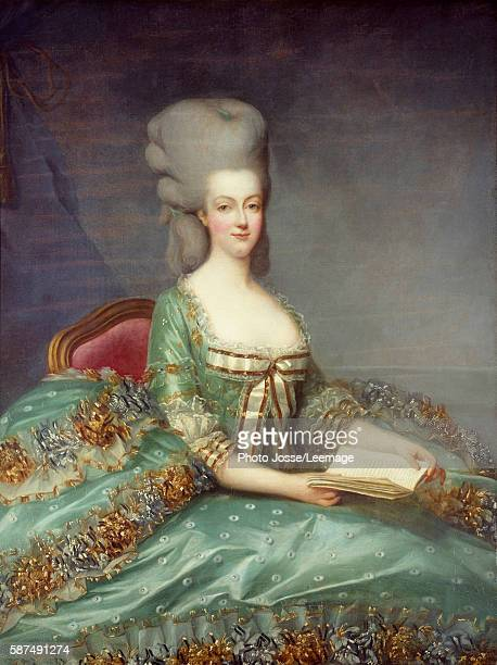 Portrait of Marie Antoinette Queen of France This portrait was given by the Queen's confessor in 1781 Painting by Francois Hubert Drouais 18th...