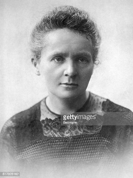 Portrait of Marie Curie discoverer of Radium Undated photograph