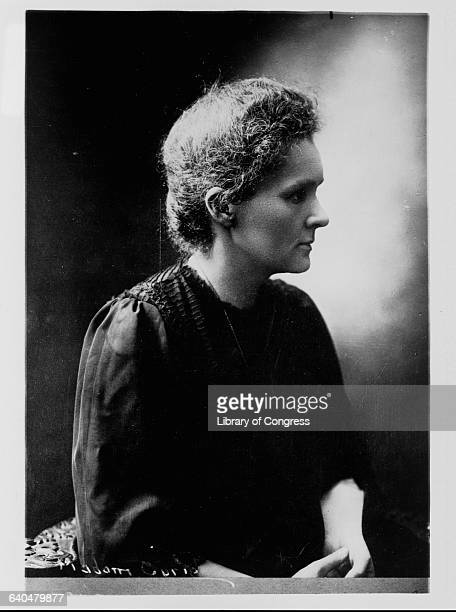 A portrait of Marie Curie who was awarded a Nobel prize in 1903 for her work on radioactivity and again in 1911 for her discovery of polonium and...