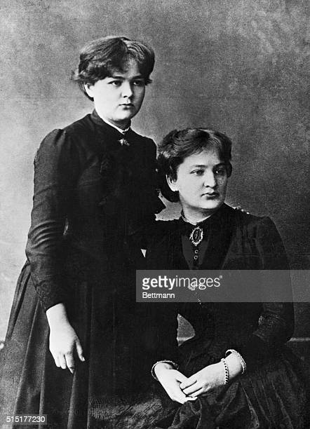 Portrait of Marie Curie with her sister Bronia Sklodowska Undated photograph