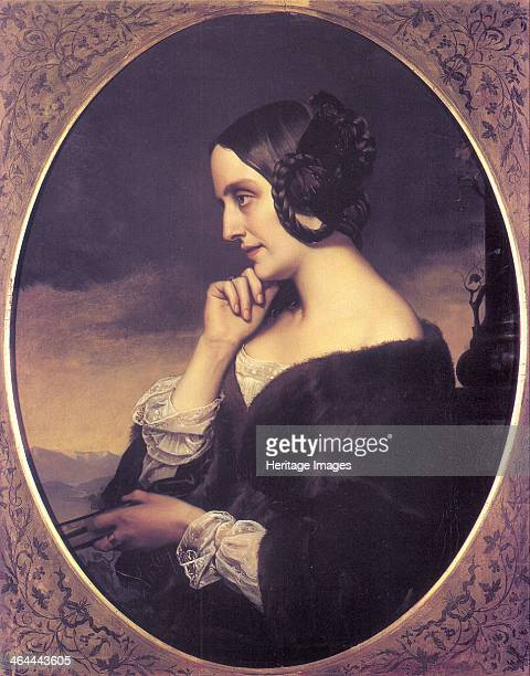Portrait of Marie d?Agoult , 1843. Found in the collection of the Musée de la Vie romantique, Paris.