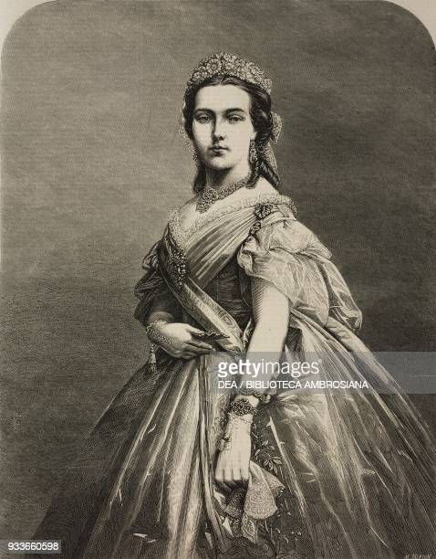 Portrait of Marie Henriette of Austria Queen consort of the Belgians illustration from the magazine The Illustrated London News volume XLVIII January...