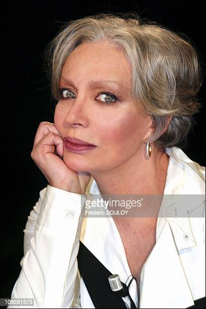 Portrait of Marie Laforet singer and actress in France on January 30th 2004