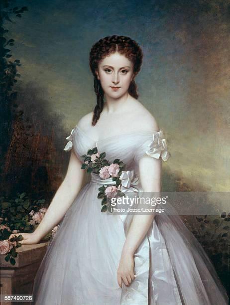 Portrait of Marie Rose Painting by Alexis Joseph Perignon1869 Opera Museum Library Paris