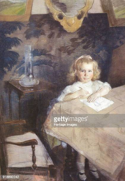 Portrait of Marina Nikolayevna Gritsenko as Child 1905 Found in the collection of State Russian Museum St Petersburg
