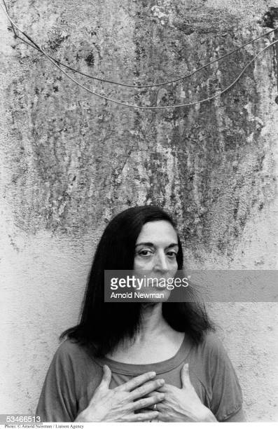 Portrait of Marisol Escobar, Venezuelan sculptor, July 20, 1985 in North Brunswick, New Jersey.