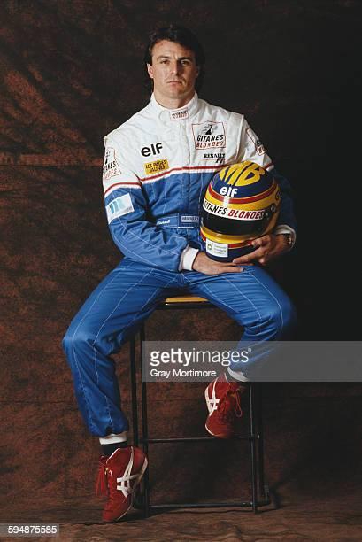 Portrait of Mark Blundell of Great Britain, driver of the Ligier Gitanes Blondes Ligier JS39 Renault V10 during a photo shoot on 1 February 1993 at...