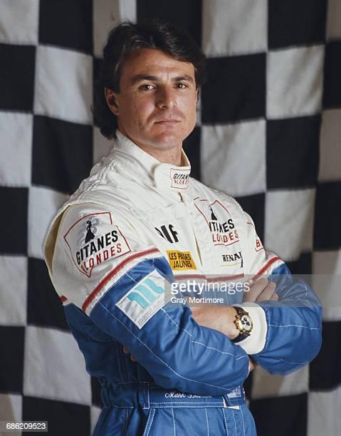 Portrait of Mark Blundell of Great Britain, driver the Ligier Gitanes Blondes Ligier JS39 Renault V10 on 18 March 1993 at the Allsport studio in...
