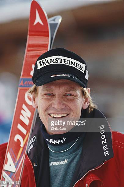 Portrait of Markus Wasmeier of Germany after the Men's Downhill event at the International Ski Federation FIS Alpine Skiing World Cup on 8 December...
