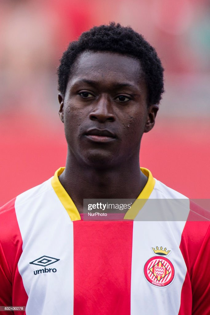 Portrait of Marlos Moreno from Colombia of Girona FC during the Costa Brava Trophy match between Girona FC and Manchester City at Estadi de Montilivi on August 15, 2017 in Girona, Spain.
