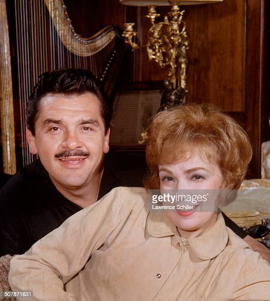 Portrait of married American actors Ernie Kovacs and Edie Adams Los Angeles California 1961