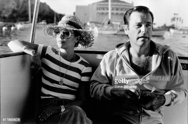 Portrait of married American actors Natalie Wood and Robert Wagner on their yacht 'The Splendour' off Catalina Island California October 8 1976