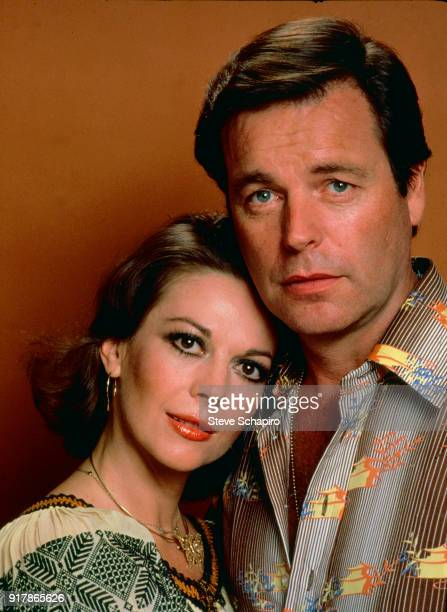 Portrait of married American actors Natalie Wood and Robert Wagner California 1976