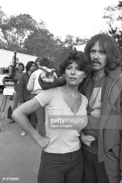 Portrait of married American actress Adrienne Barbeau and director John Carpenter on the set of their film 'The Fog' Los Angeles California 1979